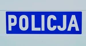 Polish police Royalty Free Stock Photo