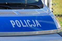 Polish police Stock Photos