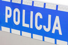 Polish police sign Stock Photos