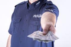 Polish policeman corrupt Stock Photos