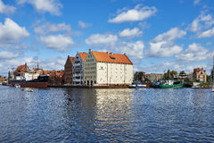 The Polish port city of Gdansk. Gdansk, Poland August 14.2016.Gdansk - the city-county, a port city in northern Poland, on the Baltic Sea Gdansk Bay, located on Stock Photo