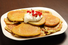 Polish potato pancakes Royalty Free Stock Photography