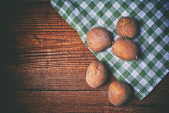 Polish potatoes on a wooden table Royalty Free Stock Photography
