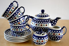 Polish Pottery Bunzlau Royalty Free Stock Image