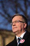Polish President Bronisław Komorowski Royalty Free Stock Image