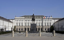 Polish Presidential Palace Stock Photo
