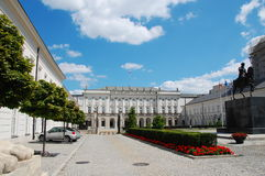 Polish presidential palace. Palac Prezydencki or Namiestnikowski - the residence of the Polish President Stock Images
