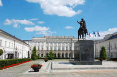 Polish presidential palace. Palac Prezydencki or Namiestnikowski - the residence of the Polish President Royalty Free Stock Image