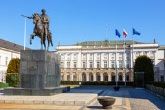 Polish Presidential Palace Stock Photo