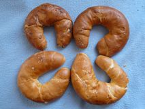 Polish rogals ,Traditional European yeast roll. Polish Rogal ,Traditional European yeast roll stock images