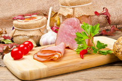 Polish rolled fillet of ham Stock Photos