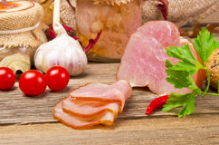 Polish rolled fillet of ham. A fresh Polish rolled fillet of ham Royalty Free Stock Photography