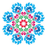 Polish round folk art pattern - Wzory Lowickie, Wycinanka Stock Photography