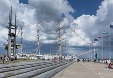 Polish Sail training ship Royalty Free Stock Photos