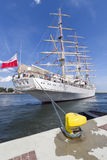 Polish Sail training ship Royalty Free Stock Images