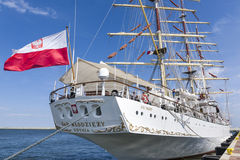 Polish Sail training ship Stock Photos