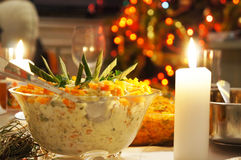 Polish salad in the evening Stock Image