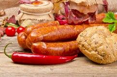 Polish sausage (Polska) Stock Photography