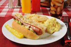 Polish sausage Stock Photo