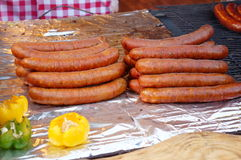 Polish sausages Royalty Free Stock Photo