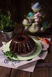 Polish schokolade babka Royalty Free Stock Image