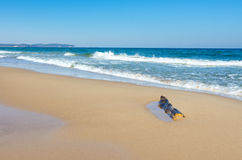 Polish sea beach in March Stock Photos