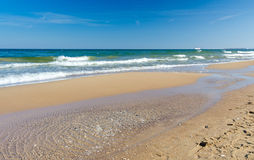 Polish sea beach in spring time Stock Photography