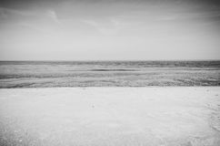 Polish sea of breakwaters and sand dunes. Royalty Free Stock Photography