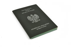 Polish seaman's book Royalty Free Stock Image