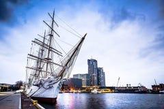 Polish ship docked in Gdynia Stock Image