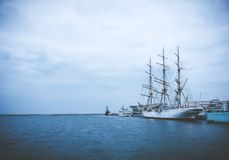 Polish ship docked in Gdynia Royalty Free Stock Photo