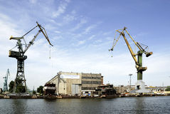 Polish shipyard Stocznia Gdansk in Poland Stock Photos