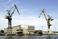 Polish shipyard Stocznia Gdansk in Poland Royalty Free Stock Photography