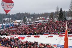 Polish Ski Jumping Fans at Zakopane Stock Photography