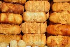 Polish smoked cheese oscypek Stock Images