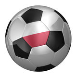 Polish Soccer Ball Stock Photo