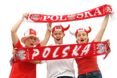 Polish soccer fans Stock Photos