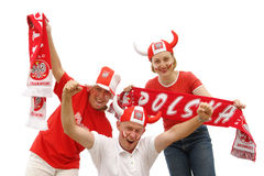 Polish soccer fans Royalty Free Stock Photos