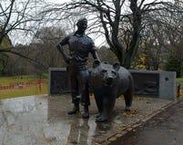 Polish soldier and bear Wojtek. Royalty Free Stock Photos