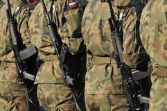 Polish soldiers Royalty Free Stock Image