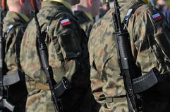 Polish soldiers Stock Photos