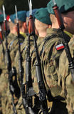 Polish soldiers. Formation during parade Stock Photo