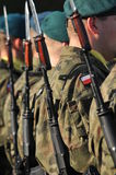 Polish soldiers. Formation during parade Stock Image