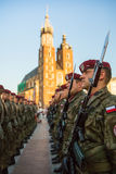 Polish soldiers on guard of the ceremony Stock Photography
