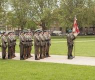 Polish soldiers preparing to parade Royalty Free Stock Photo