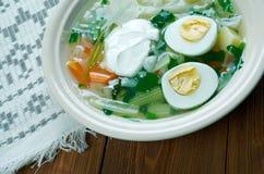 Polish Sorrel Soup Stock Photo