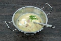 Polish soup zurek Royalty Free Stock Photography