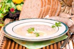 Polish sour rye soup Stock Photo