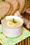 Polish sour rye soup Royalty Free Stock Photography