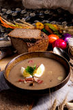 Polish Sour rye soup Royalty Free Stock Photos